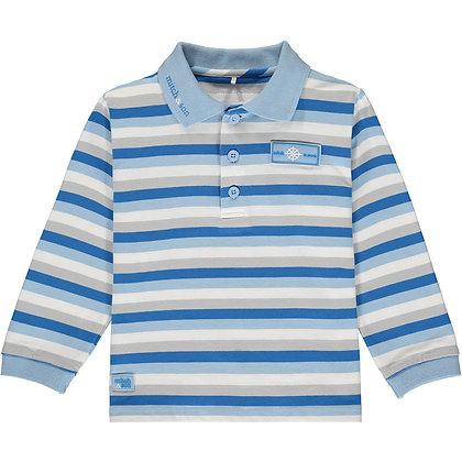 Mitch & Son Ronan - Jersey Stripe Polo Top