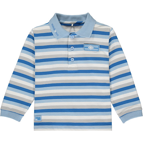 Mitch & Son Rowan - Jersey Stripe Polo Top