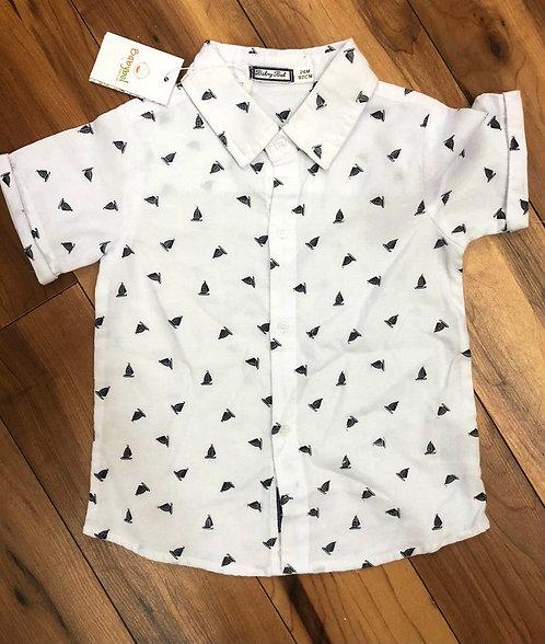 Babybol White Short Sleeve Shirt