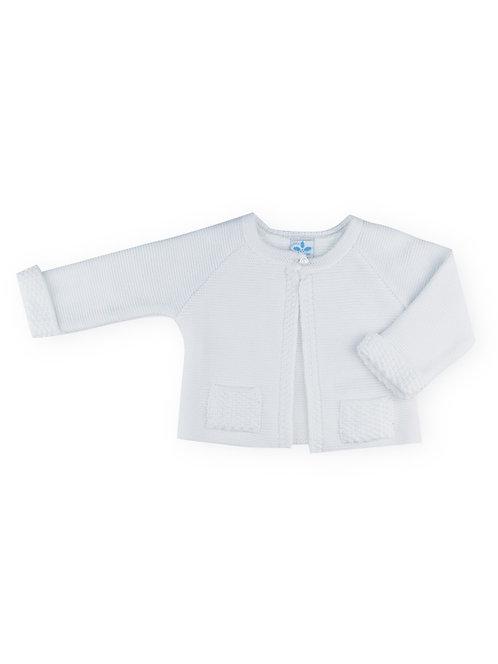 Sardon - White Knitted Cardigan
