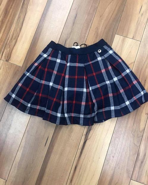iDo - Navy Check Skirt
