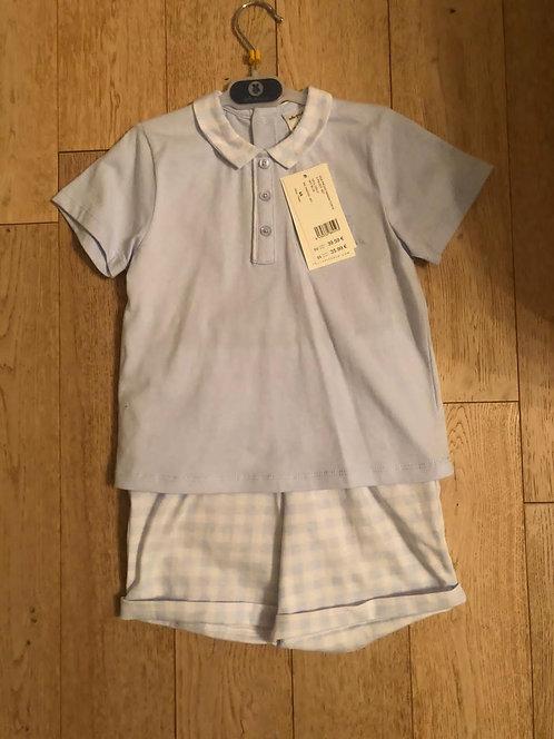 Tutto Piccolo - Blue & White T-Shirt & Short Set