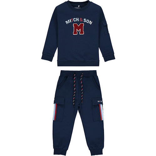 Mitch & Son Connor Navy Tracksuit