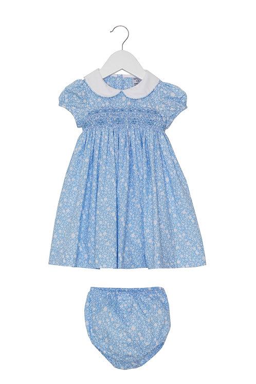Little Larks - Hannah Pale Blue & White Floral Dress