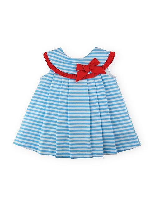 Sardon - Nautical Blue and White Dress