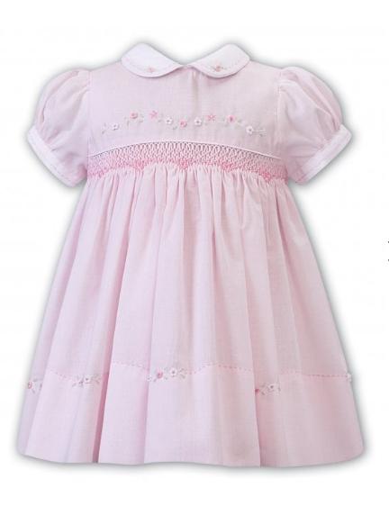 Sarah Louise - Pink & White Dress
