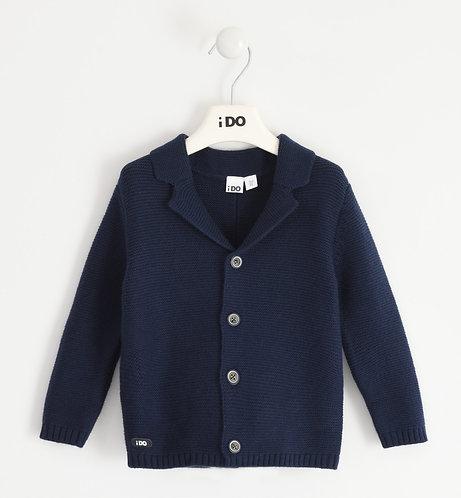 iDO - Navy tricot cardigan for boy