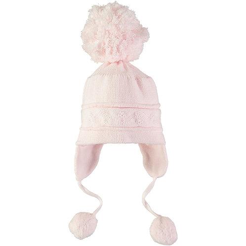 Griffin - Pink true knit cosy ear bobble Hat
