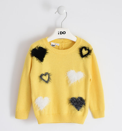 iDO - Soft Yellow Knitwear Jumper
