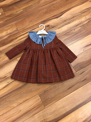 Eve - Ginger Check Dress and Collar