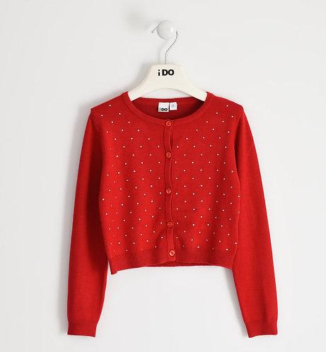iDO - Red Super soft cardigan