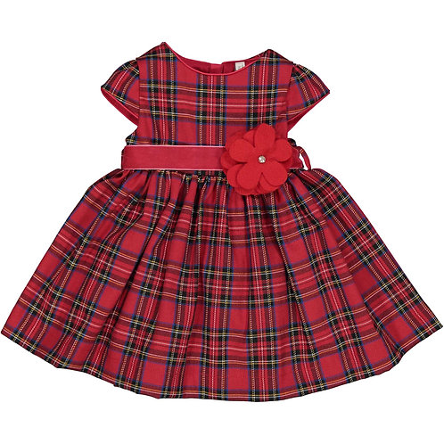 Birba -  Red Check Print Dress