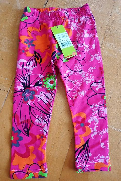 Bright Pink Floral Leggings