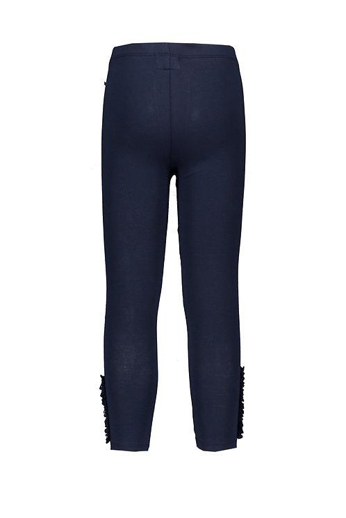 Le Chic - Navy Blue Legging Ruffle & Pearls