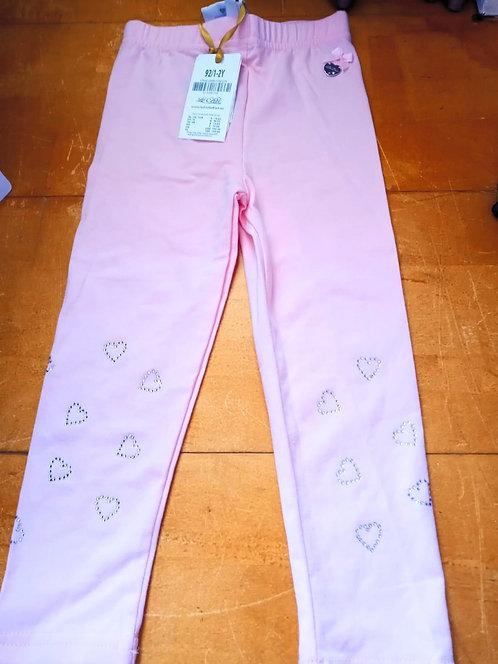 Le Chic Pink Heart Leggings