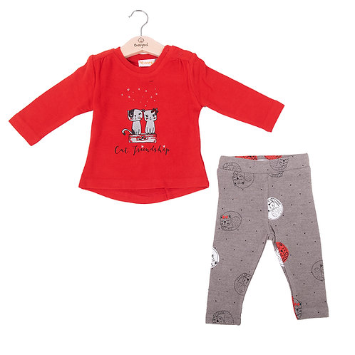 Babybol - Red Long Sleeve 2 Piece Set