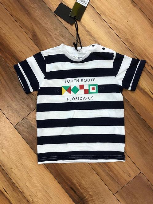 iDO - Navy & White Stripe T-Shirt