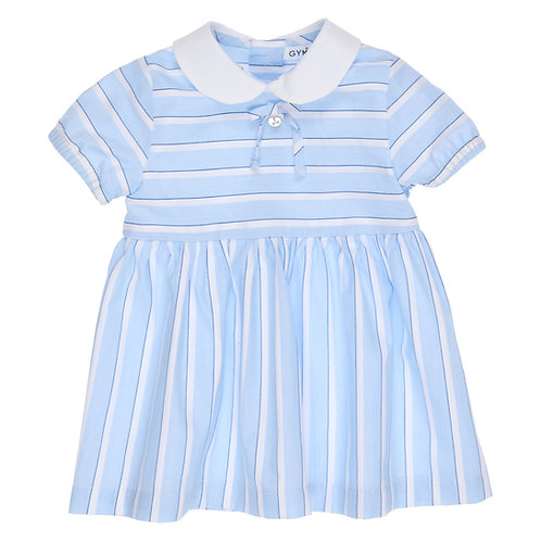 GYMP - Light Blue & White Dress