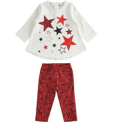 iDO - Outfit with maxi sweater with stars and leggings