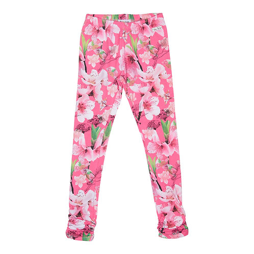 Happy Calegi - Pink Floral Print Leggings