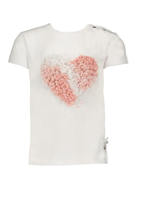 Le Chic -Baby White T-shirt 3D Heart