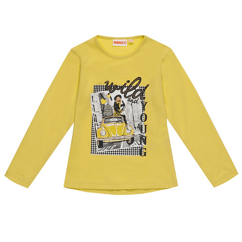 "UBS2 -Girls Yellow T-Shirt ""Wild and Young"""