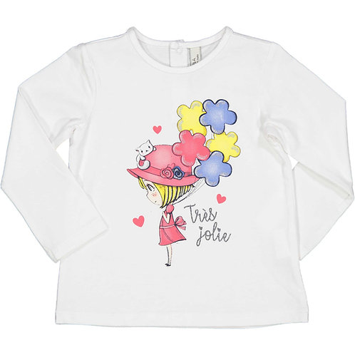 Birba - White Long Sleeve T- Shirt
