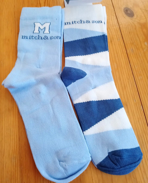 Mitch & Son - Aguero Blue Socks Twin Pack