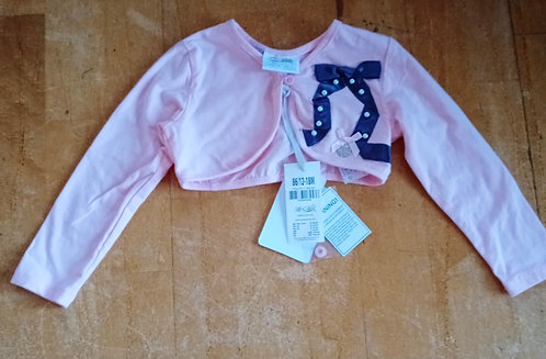 Le Chic Pink with Navy Bow Bolero