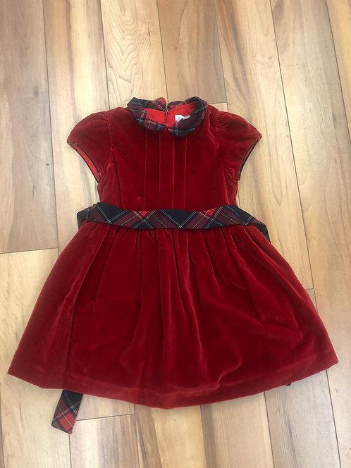 Patachou - Red Velvet Dress