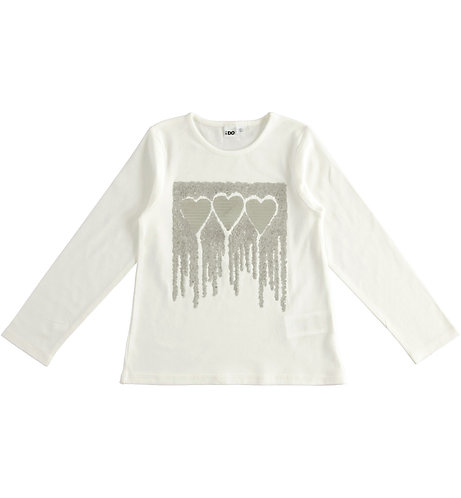 iDO - Long-sleeved T-shirt with sequins