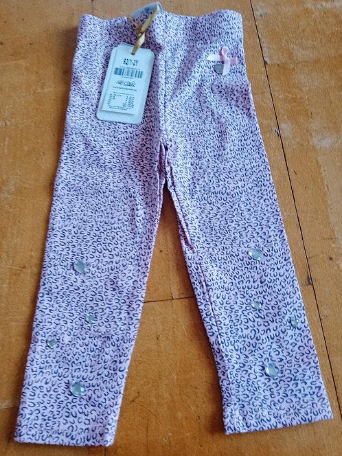 Le Chic Pink & Grey Leggings