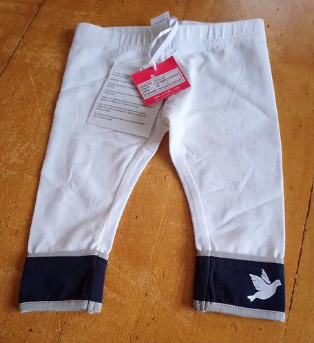 Lofff White & Navy Leggings