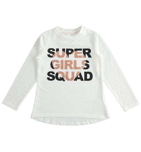 iDO - Cream Maxi cotton t-shirt