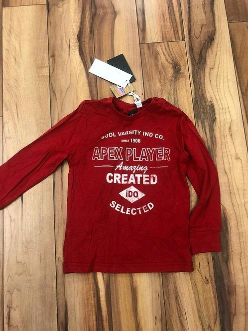 iDO- Red Long Sleeve Top