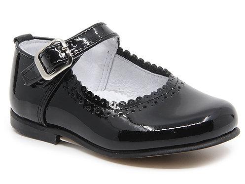 Leon Shoes -  Navy Patent Buckle