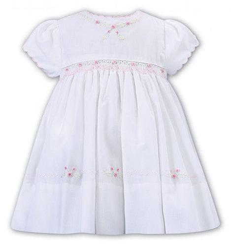 Sarah Louise - White and Pink Dress