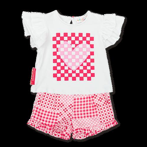 Agatha Ruiz de la Prada - Coral T-Shirt and Shorts Set