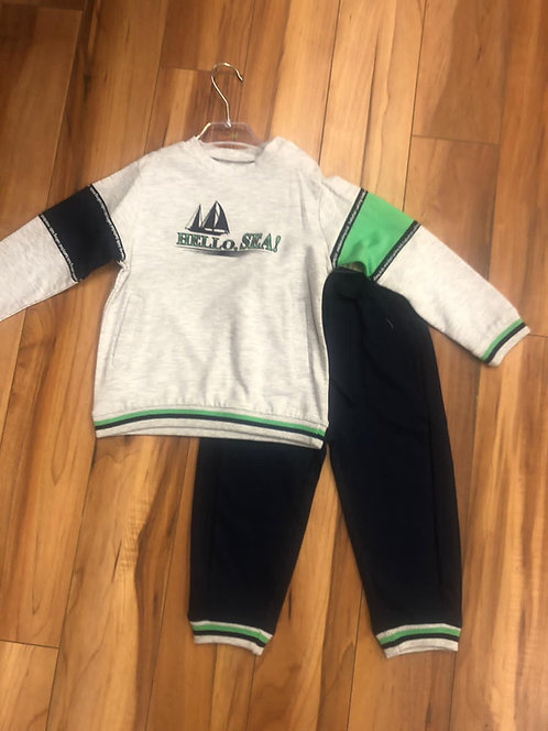 Mini Bol - Navy and Grey Tracksuit