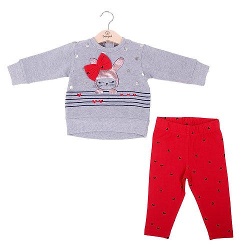 Babybol - Grey Sweater & Red Pants