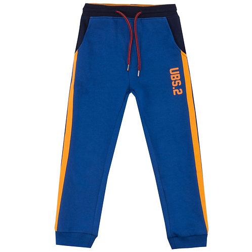 UBS2 -Royal Blue and Orange Tracksuit Pants