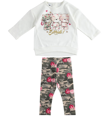 iDO - Outfit with maxi shirt and camouflage leggings