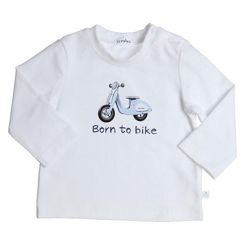 GYMP -  White Born To Bike Long Sleeve