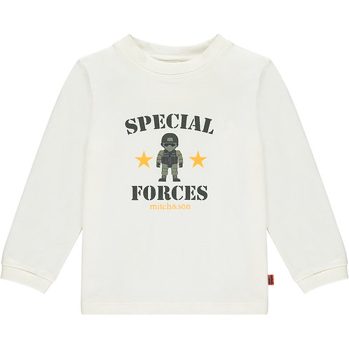 Mitch & Son - Morrison White Special Forces Long Sleeve Top