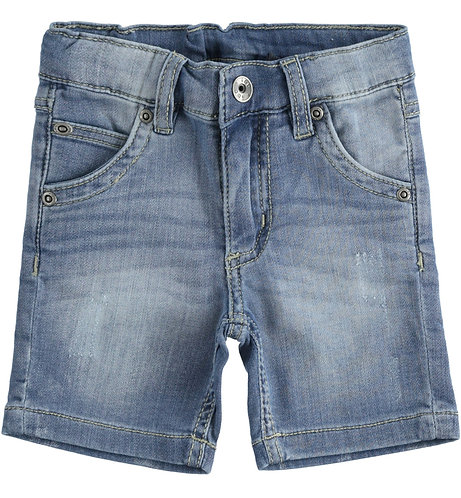 iDO - Pale Stone Washed Denim Shorts