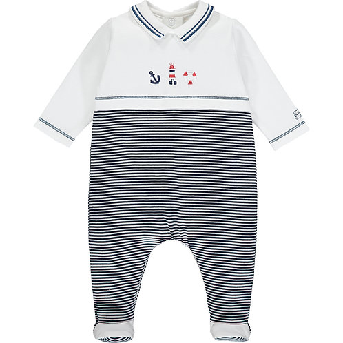 Walsh - Navy Traditional Baby Boy's Babygrow