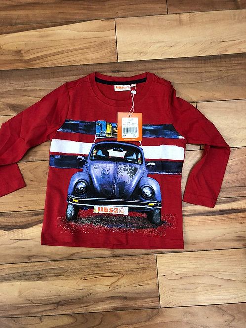 UBS2 - Red Long Sleeve Top