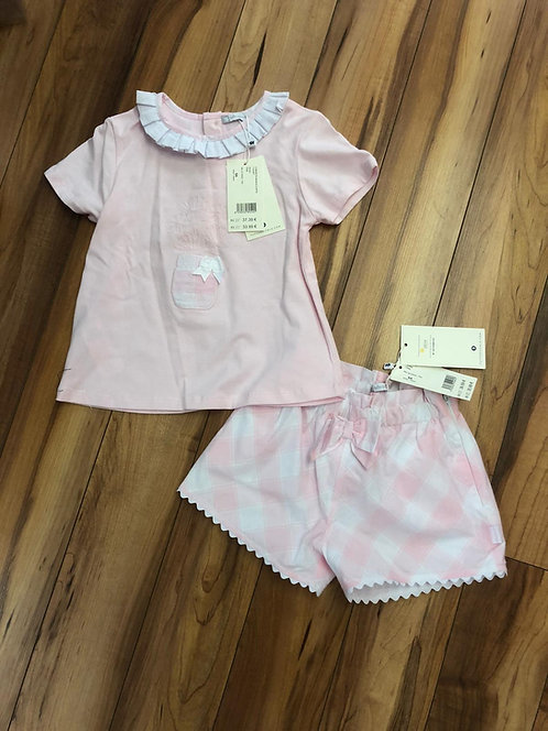 Tutto Piccolo - Pink Top & Short Set