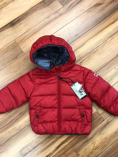 iDO-  Red Padded Coat with Hood