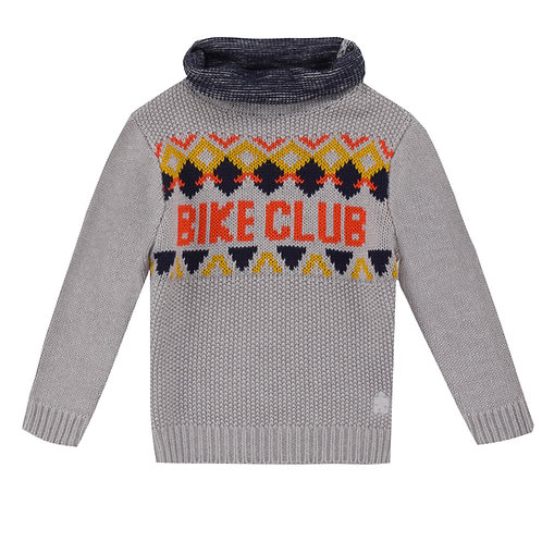 UBS2 - Boys Grey Turtlerneck Sweater